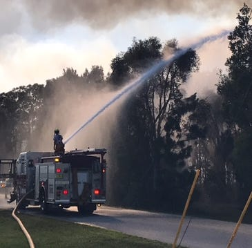 Lee County fire departments control 5-acre brush fire off U.S. 41 in Bonita Springs