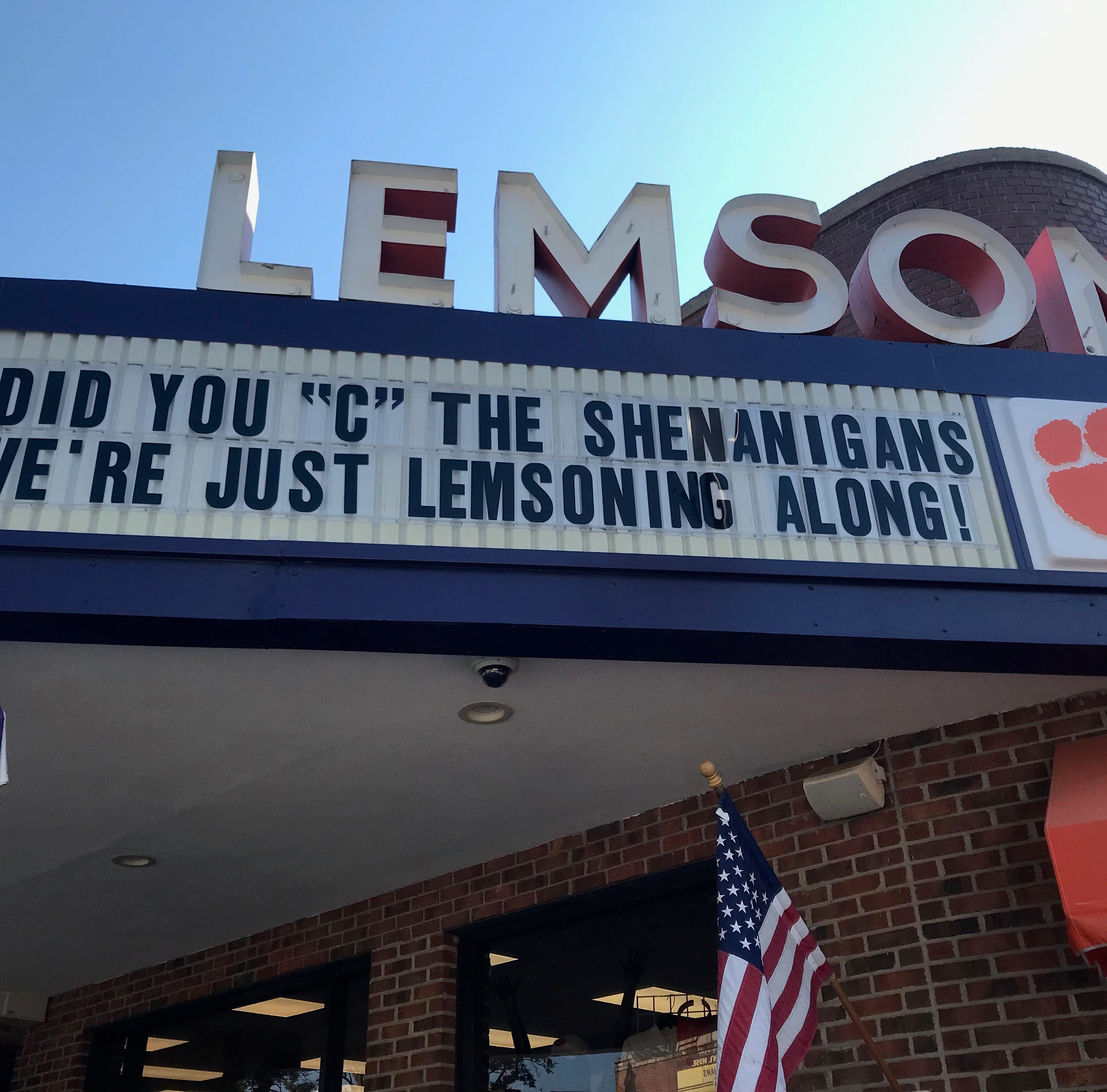 Lost at 'C': Letter stolen off iconic marquee in downtown Clemson