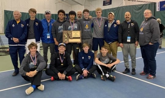 The Great Falls Central boys' tennis team successfully defended their State Class BC Championship in Bozeman this weekend.