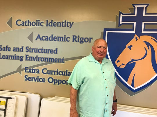 Hugh Smith has walked the hallways at Great Falls Central Catholic High since it reopened in 2000. Now 71, he will retire soon.