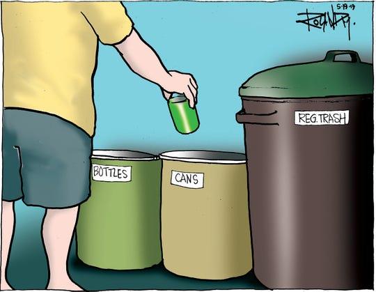 Sunday cartoon on green practices.