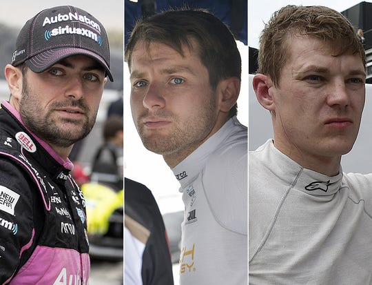 Jack Harvey, Jordan King and Ben Hanley, the ninth row for the 2019 Indianapolis 500.