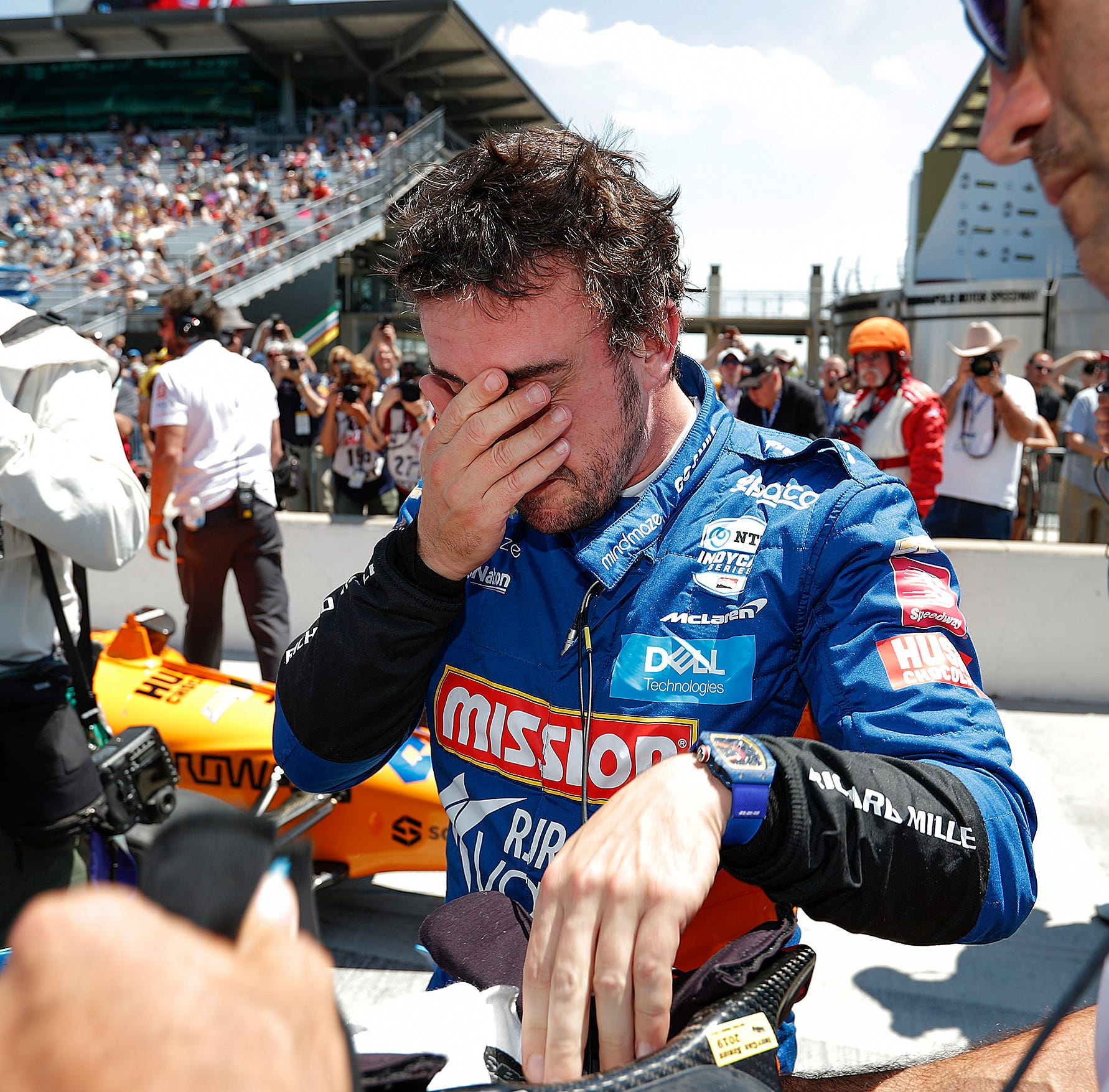 Fernando Alonso doesn't qualify for Indy 500 on Saturday, in Sunday's Last Row Shootout