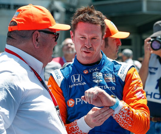 Scott Dixon (9) of Chip Ganassi Racing, who won the 2008 Indy 500, starts on the outside of Row 6 for the Indy 500. It's the worst starting spot in his Indy  career.