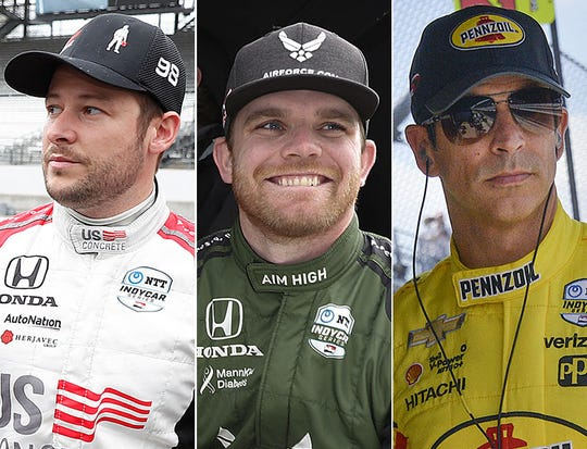 Marco Andretti, Conor Daly and Helio Castroneves, the fourth row for the Indianapolis 500.