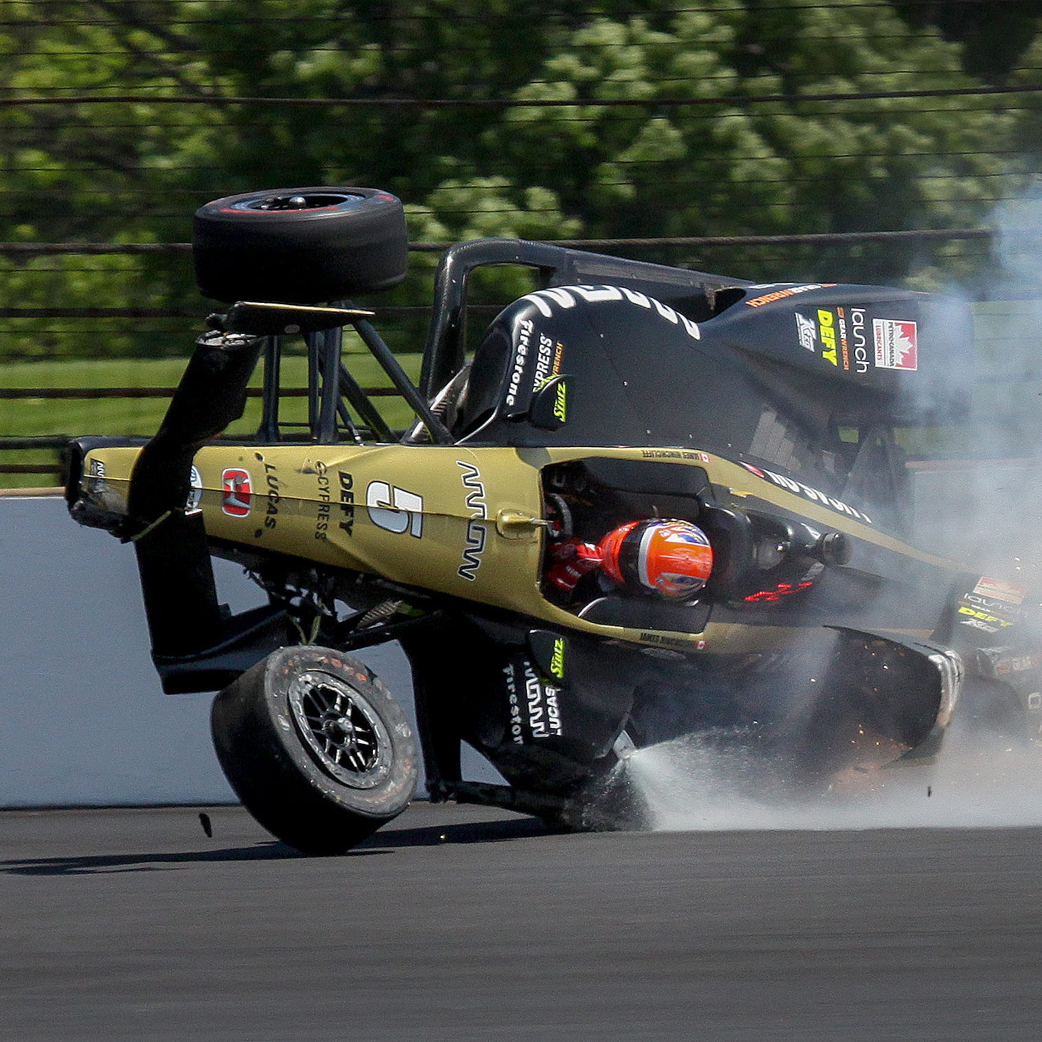 Indy 500 qualifying: James Hinchcliffe is OK after crash