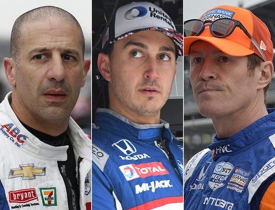 Tony Kanaan, Graham Rahal and Scott Dixon, the sixth row for the 2019 Indianapolis 500.