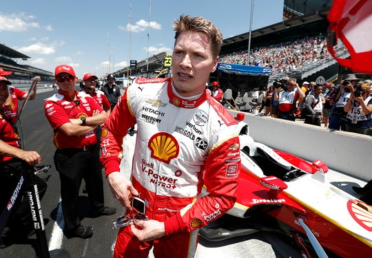 Josef Newgarden (2) of Team Penske has a middle of the third row starting spot for the Indy 500.