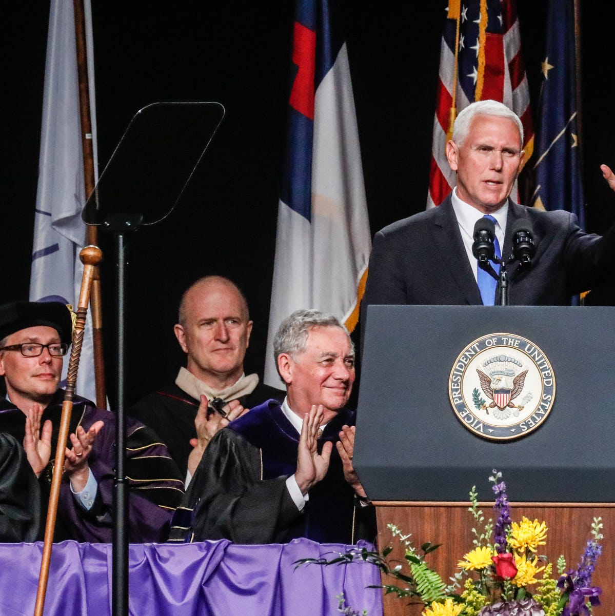 Letters: Graduates deserve 'more truthful and inspiring message' than Pence delivered