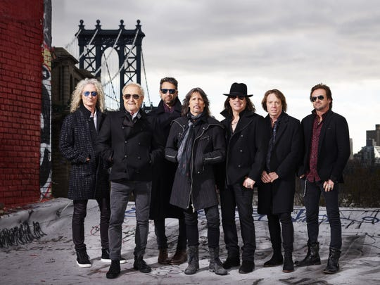 Foreigner (from left, Bruce Watson, Mick Jones, Michael Bluestein, Kelly Hansen, Tom Gimbel, Jeff Pilson and Chris Frazier) will perform May 24 at Indianapolis Motor Speedway.