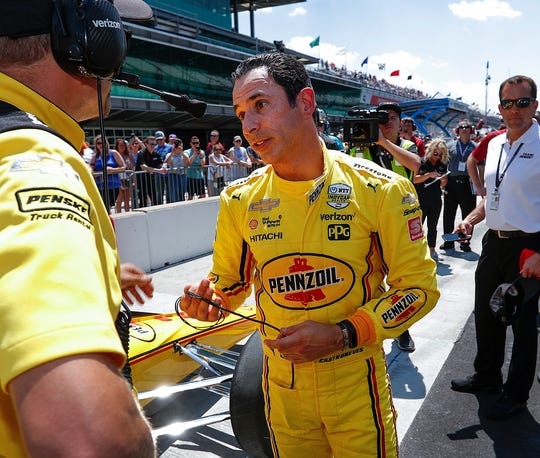 Helio Castroneves  is a three-time Indy 500 champ.