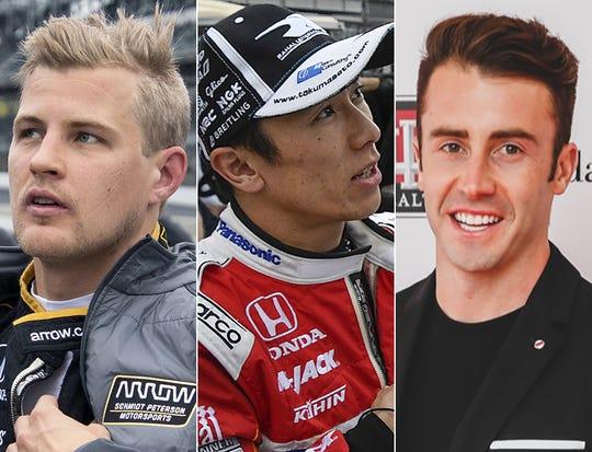 Marcus Ericsson, Takuma Sato and James Davison, the fifth row for the 2019 Indianapolis 500