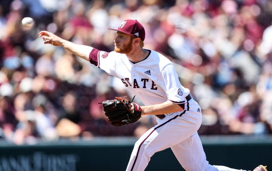 Mississippi State senior pitcher Jared Liebelt allowed four runs in 1.2 innings Sunday against South Carolina, none of which were earned on his ledger.