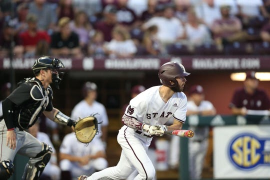 Mississippi State sophomore outfielder Josh Hatcher hit two home runs against South Carolina on Friday.