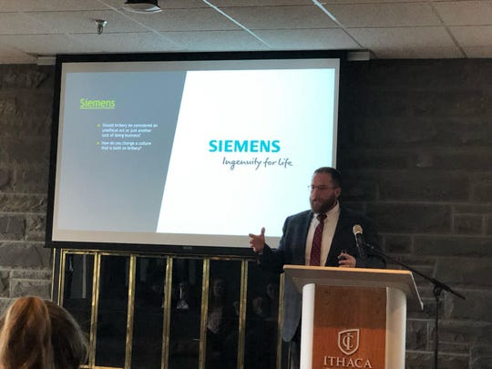 At Ithaca College, Matthew Burr discusses bribery, with a case study example from Siemens. He's an assistant professor of business administration at Elmira College who specializes in HR careers and issues.