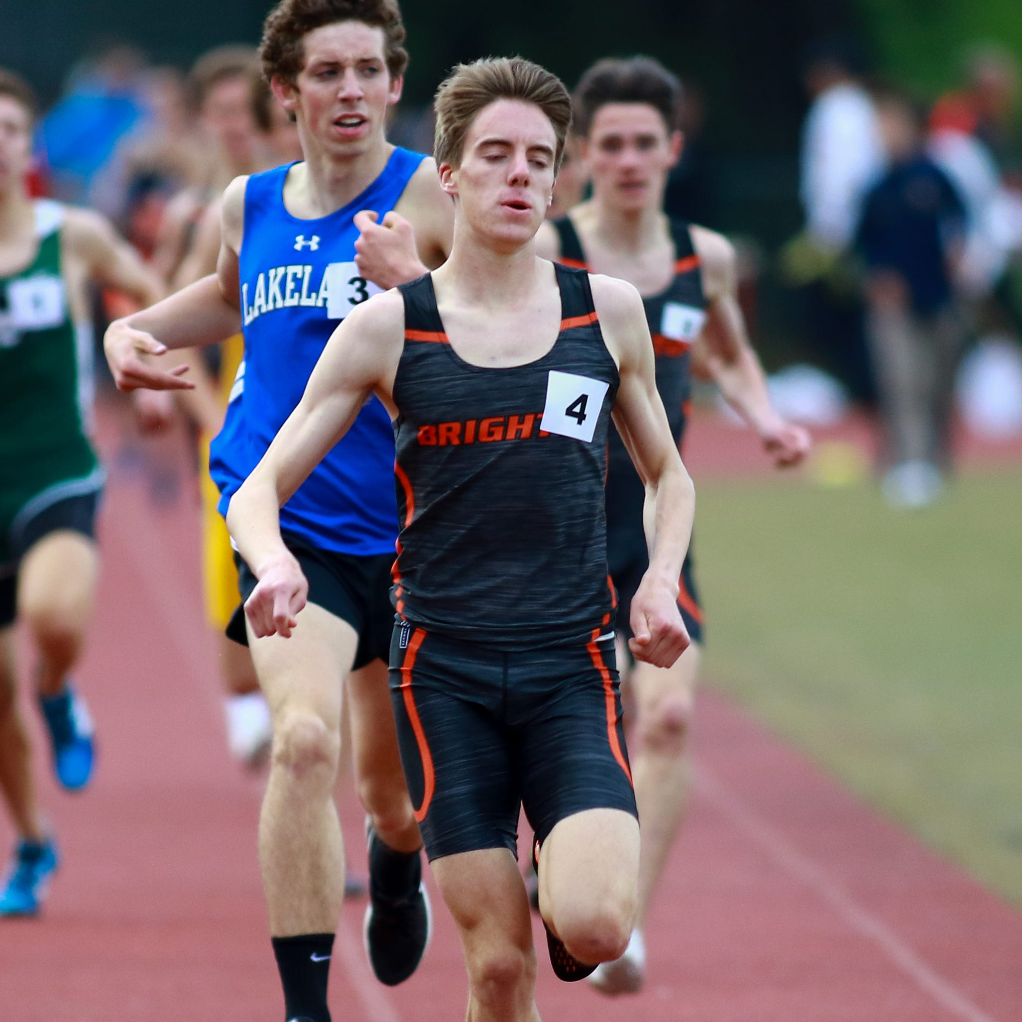 Spamer's distance sweep, fast relays carry Brighton boys to regional track championship