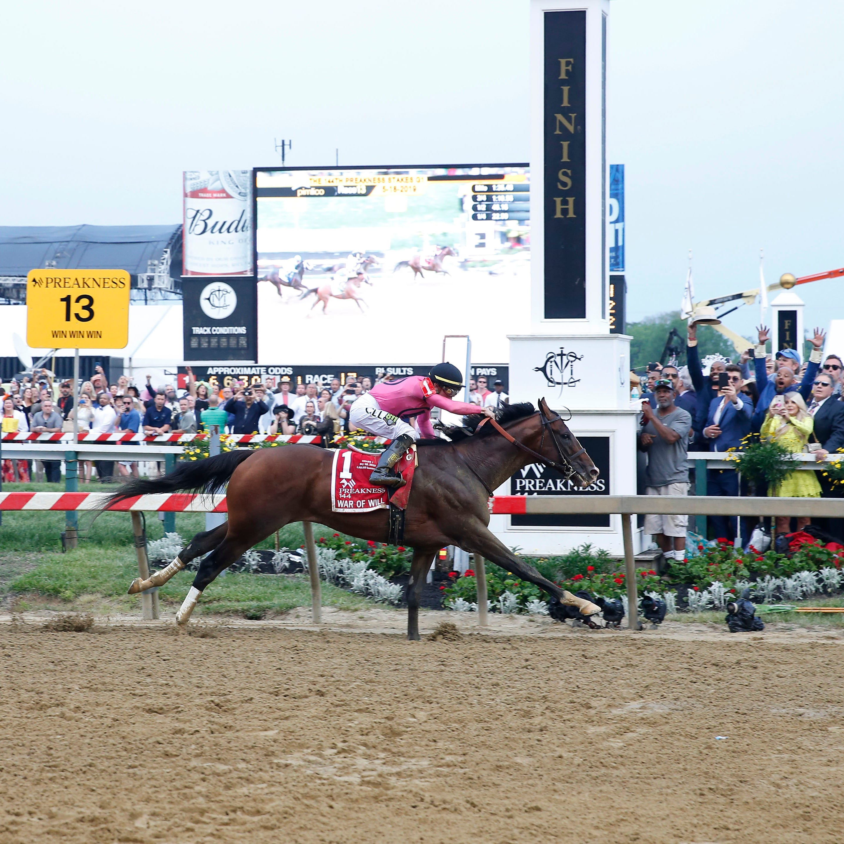 War of Will wins the 144th Preakness Stakes