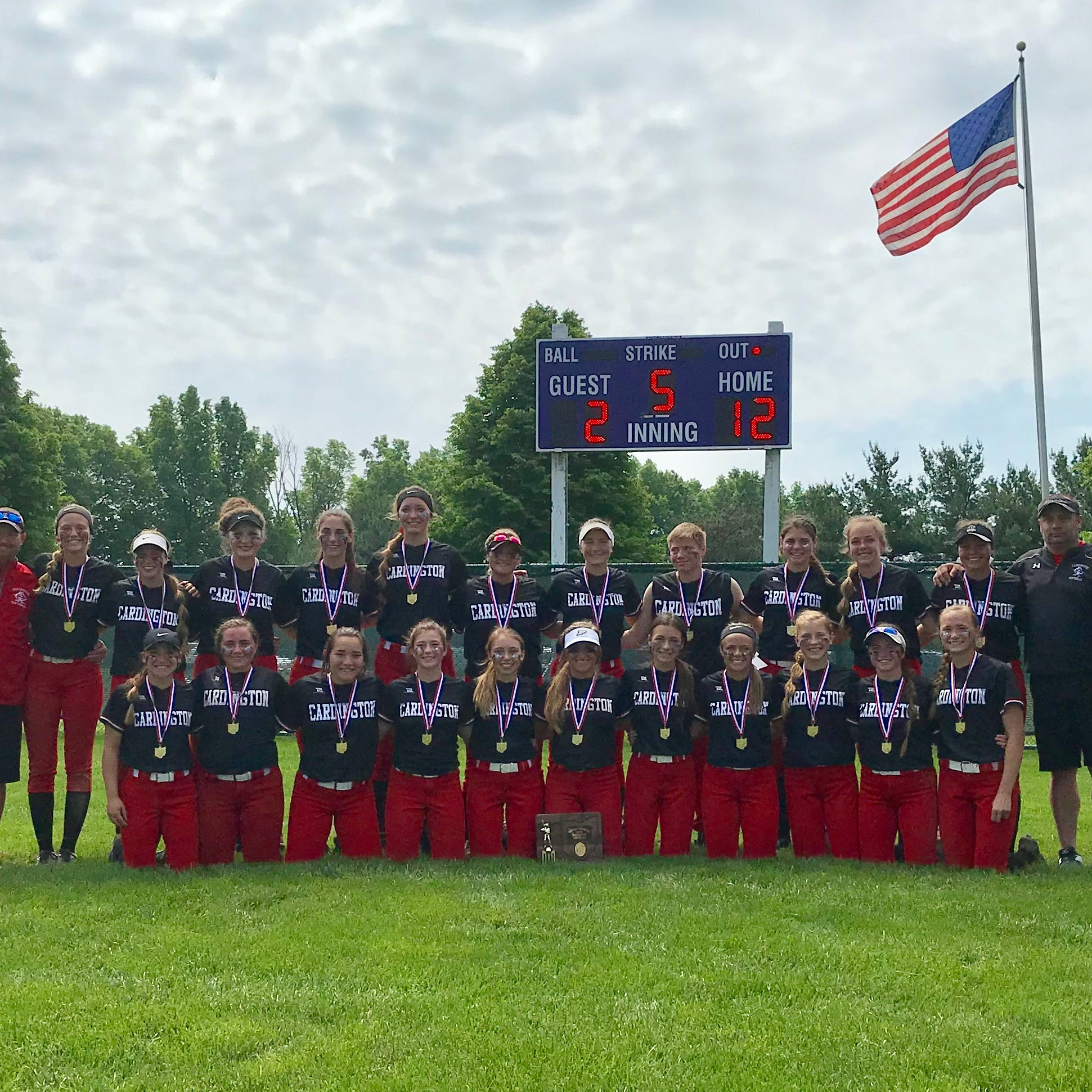 Cardington rolls Utica, wins fourth straight district softball crown