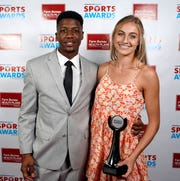 Virginia Horton at the 2019 Commercial Appeal Sports Awards with Anthony Miller.