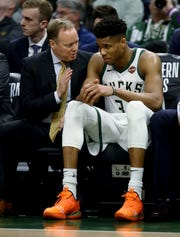 Bucks coach Mike Budenholzer and forward Giannis Antetokounmpo are finalists for NBA individual awards.