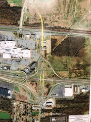 Proposed improvements with the Kansas Lane, Garrett Road, I-20 Interchange project.