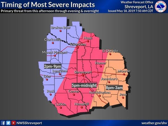 Severe weather could be on the way.