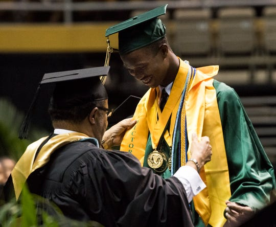 George Washington Carver High School graduation at the Dunn-Oliver Acadome in Montgomery, Ala., on Saturday, May 18, 2019.