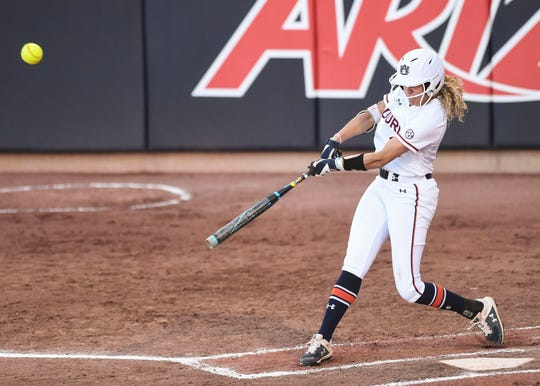 Alyssa Rivera had a big night for Auburn in its regional opener