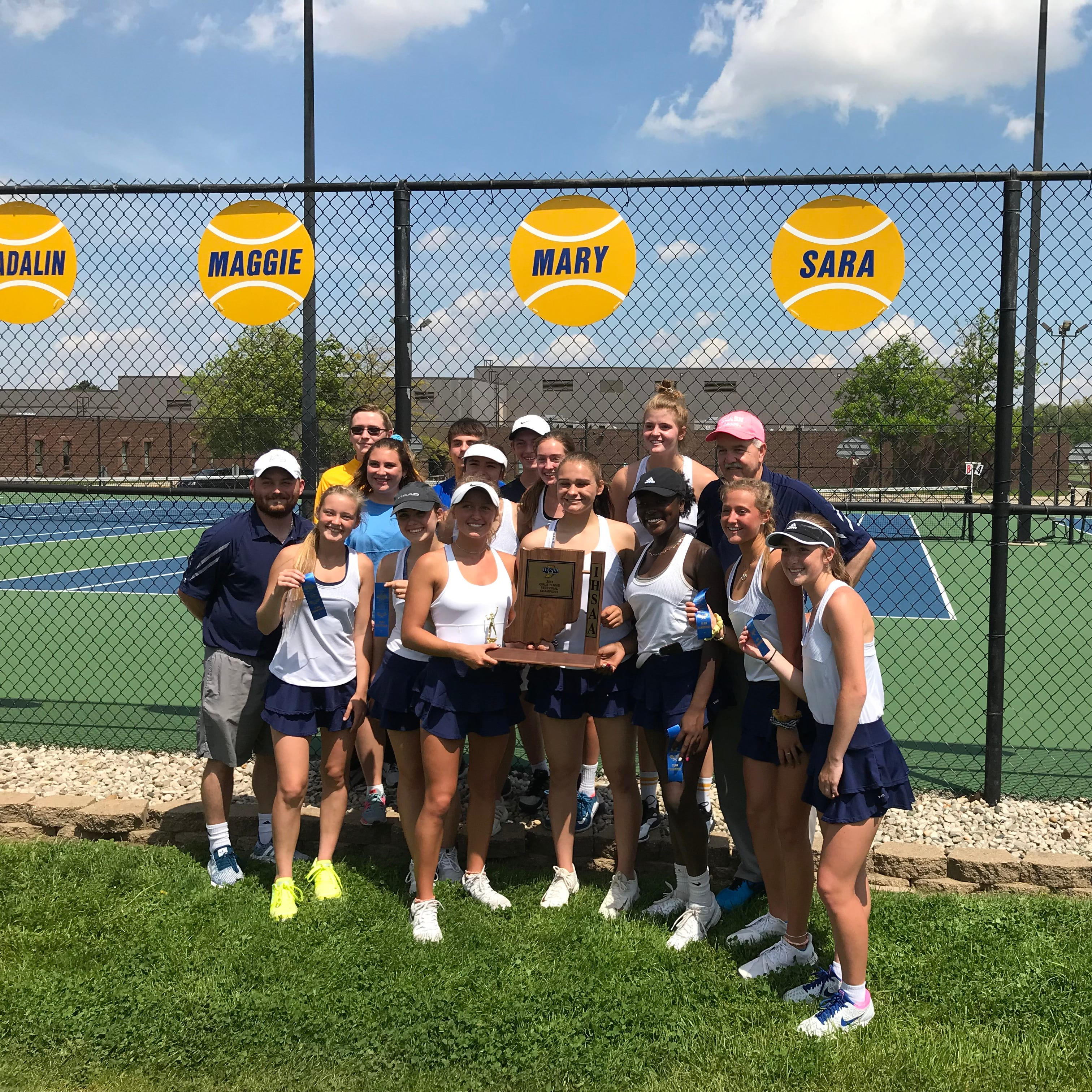 'We had the firepower': Delta wins girls tennis sectional, coach Cleland hits milestone