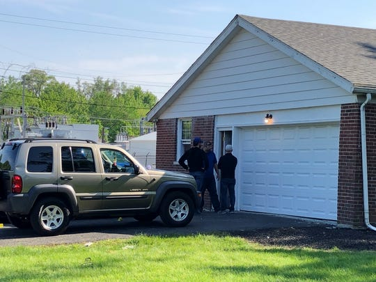 Muncie police investigate the scene of an overnight shooting at party on May 18, 2019.