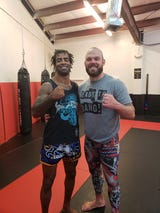 Cosmo Alexandre and Drew Stewart during training.