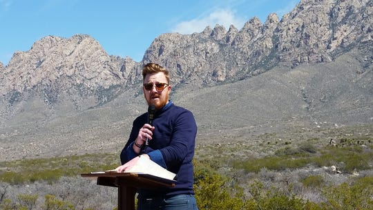 Patrick Nolan, executive director of the Friends of the Organ Mountains-Desert Peaks, addresses attendees Thursday, March 21, 2019 at an event celebrating the the federal designation of wilderness in OMDP National Monument.