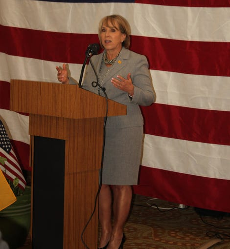 On May 17, New Mexico Gov. Michelle Lujan Grisham was welcomed to Carlsbad with a luncheon at the Steven's Inn.