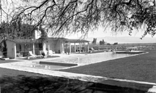 Deep Well Ranch pool in the 1930s.