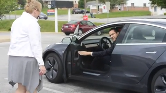 """Adam Carr agreed to drive a York County School of Technology couple to prom because a mother asked him and he knew it could be """"something special."""""""