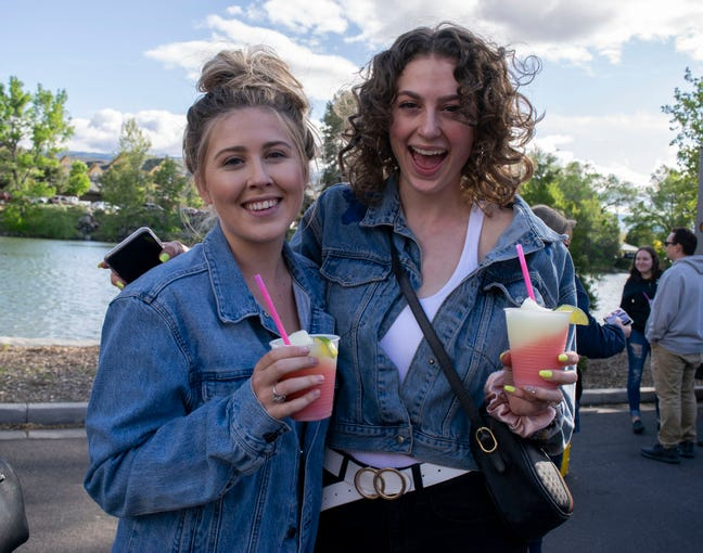 Food Truck Friday is back! These visitors enjoy what Reno's favorite food trucks have to offer at Idlewild Park on Friday, May 17, 2019, in Reno, Nev.