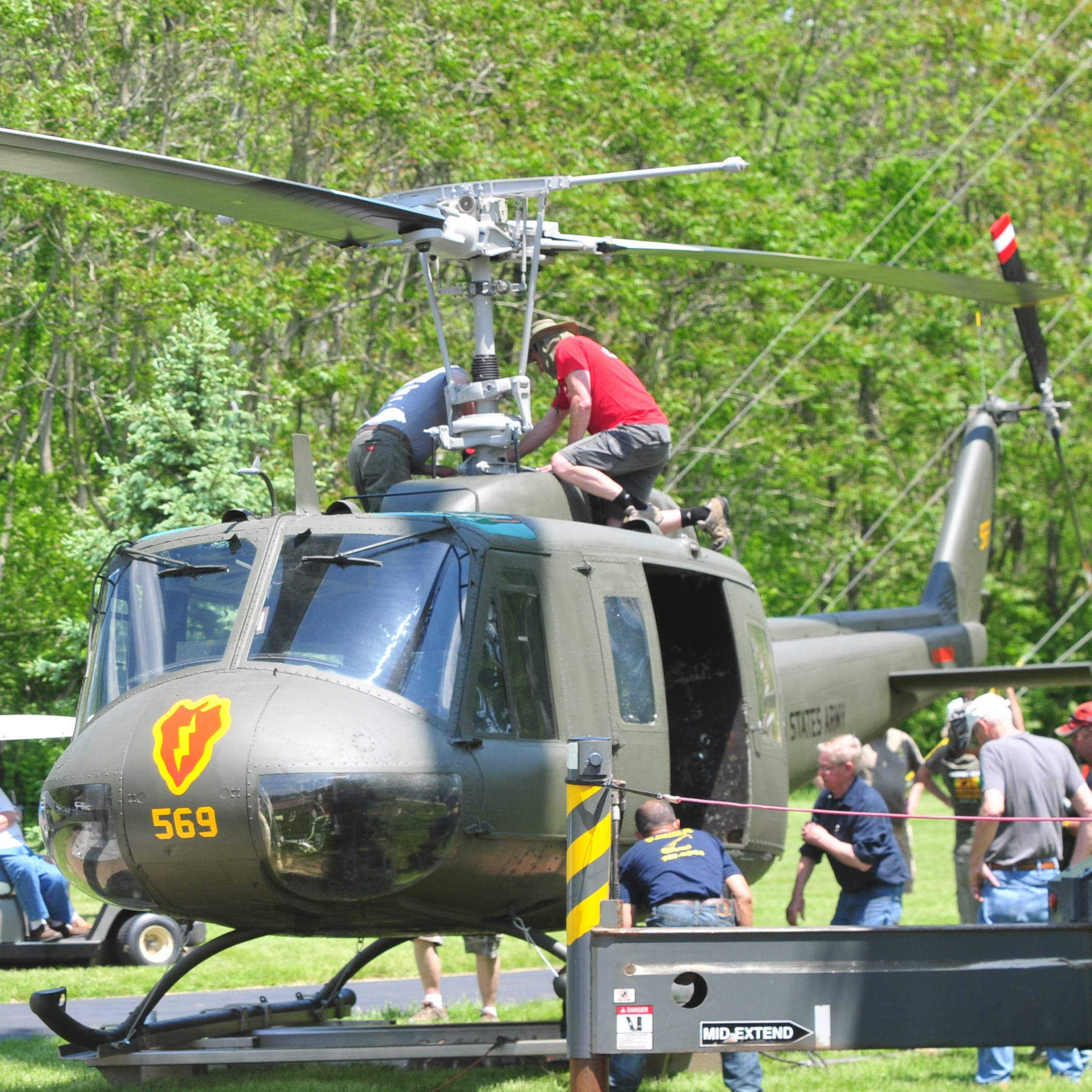 Vets welcome 'angel' Huey 'that took care of us' to Veterans Memorial Park