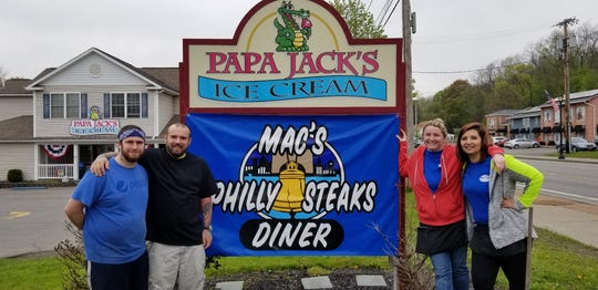 Staff members are ready to welcome customers to the new Mac's Philly Steaks. From left: Kitchen manager William Hackett, business partner Nick Larkin, Tamara Robertson and Nicole Maves.
