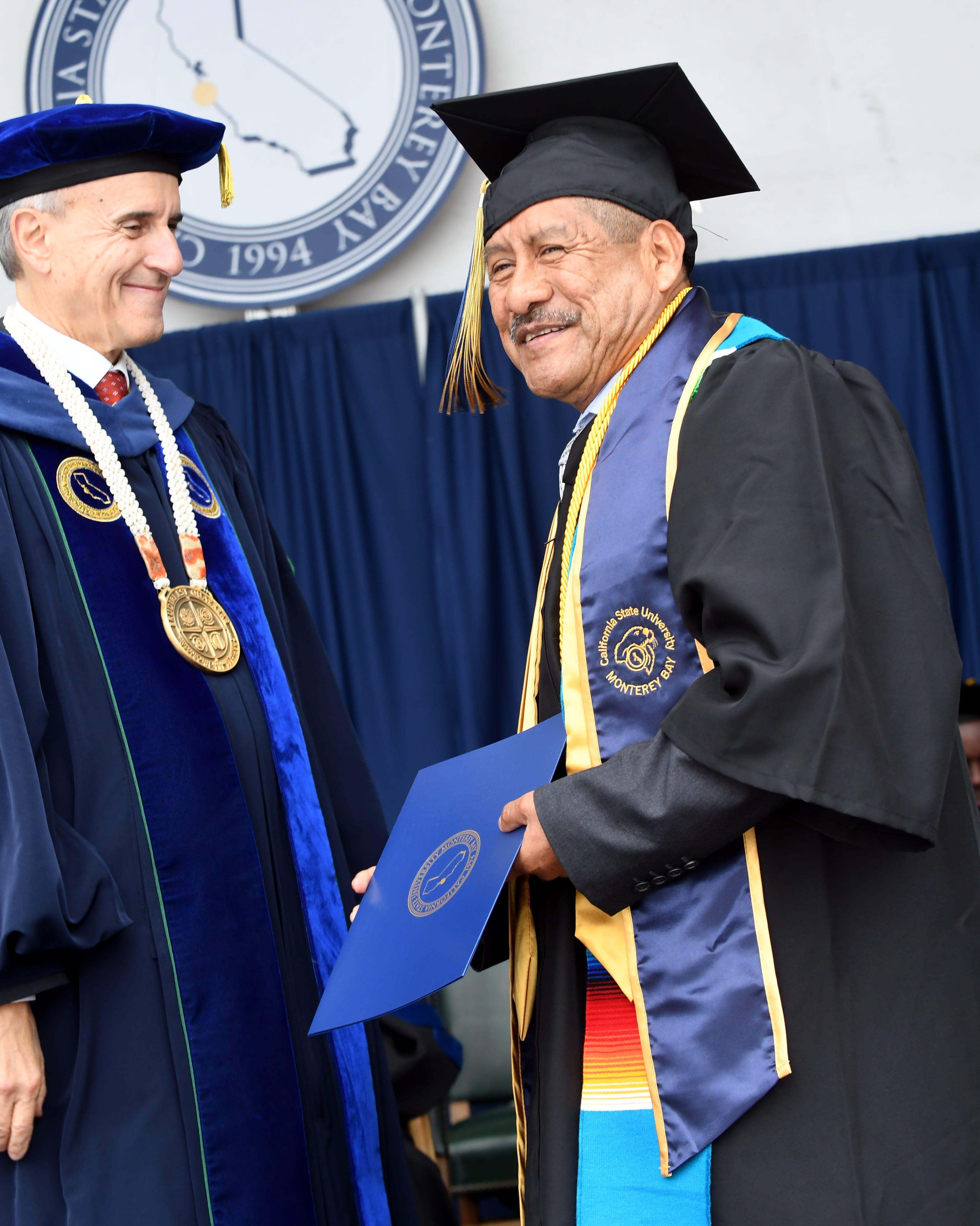 Adolfo González receives his diploma Saturday, May 18, 2019.