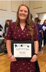 Lake View High School math teacher, volleyball coach and campus athletic coordinator for girls athletics was the Lake View teacher of the year for 2018-2019.