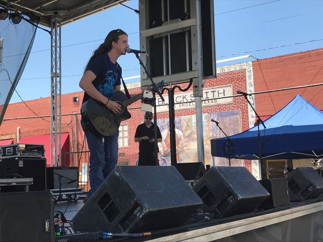 Mykel Martin performs on Foster Communications stage at Blues Fest Saturday, May 18, 2019.