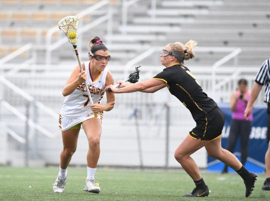 Salisbury University's Gianna Demato controls the ball against Colorado University on Saturday, May 18, 2019 during the NCAA Division III third round.