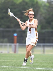 Salisbury University's Gabby Mongno controls the ball against Colorado University on Saturday, May 18, 2019 during the NCAA Division III third round.