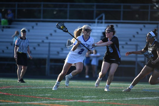 Decatur's Sarah Engle against Westminster High School during the MPSSAA State Semifinals on Friday, May 17, 2019 in Ellicott city, Md.