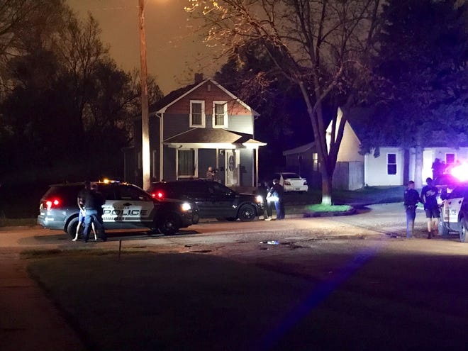 Two people were injured in a shooting on the 900 block of N. Cliff Avenue. Police brought about eight people into custody on the 900 block of N. Fairfax Avenue. A K-9 unit and SWAT were on scene past 1 a.m. Saturday.
