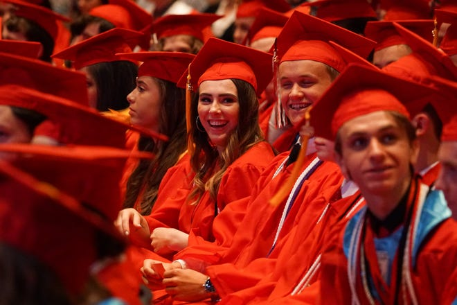 A scene from Ozark's Class of 2019 graduation ceremony on May 17.