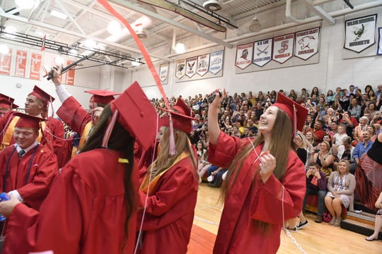 Scenes as the class of 2019 graduates from Riverheads High School on Friday, May 17, 2019.