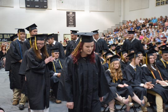 Scenes from Buffalo Gap High School's 2019 commencement at the school on Saturday, May 18, 2019.