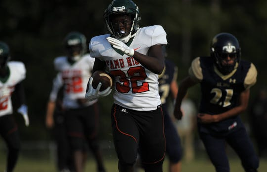 FAMU DRS beat St. John Paul II 30-0 during a spring football scrimmage on May 17, 2019.