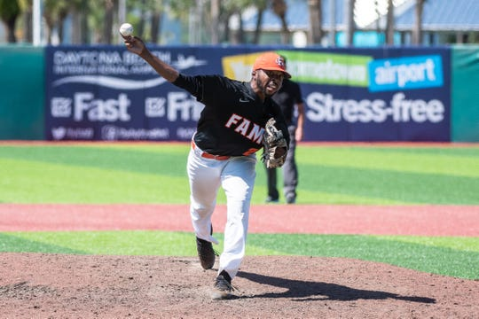 First-team All-MEAC closer Jeremiah McCollum shut the door on Norfolk State in the opener of the MEAC Baseball Championship at Jackie Robinson Ballpark in Daytona Beach.